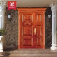 Solid Exterior Flat Teak Wood Main Double Front Entry Door ...