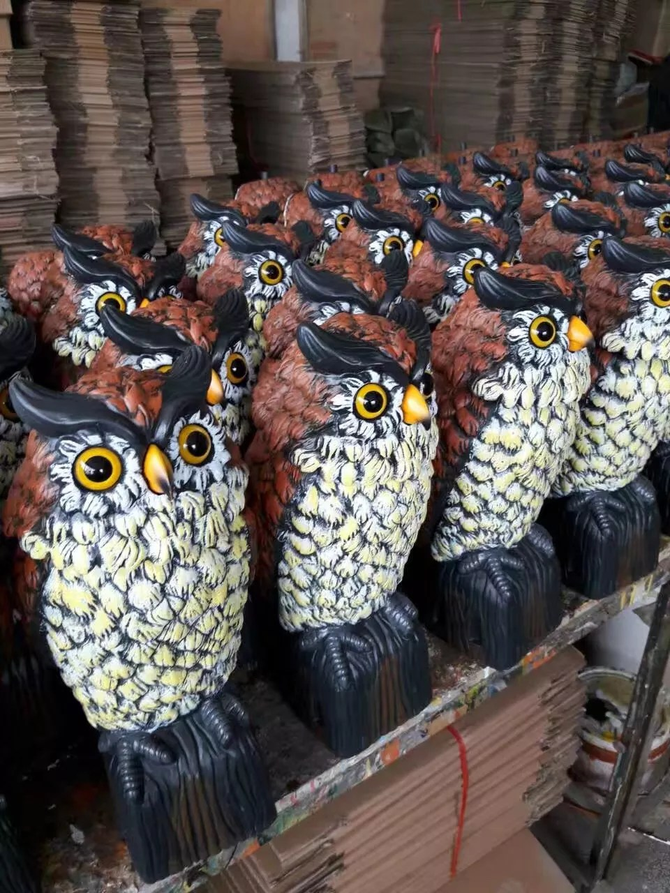 Garten Design Owl Osgoodway1 Large Realistic Plastic Night Action Owl Decoy Bird Statue Crow Scarer Scarecrow With Rotating Head Buy Plastic Action Owl Plastic Night