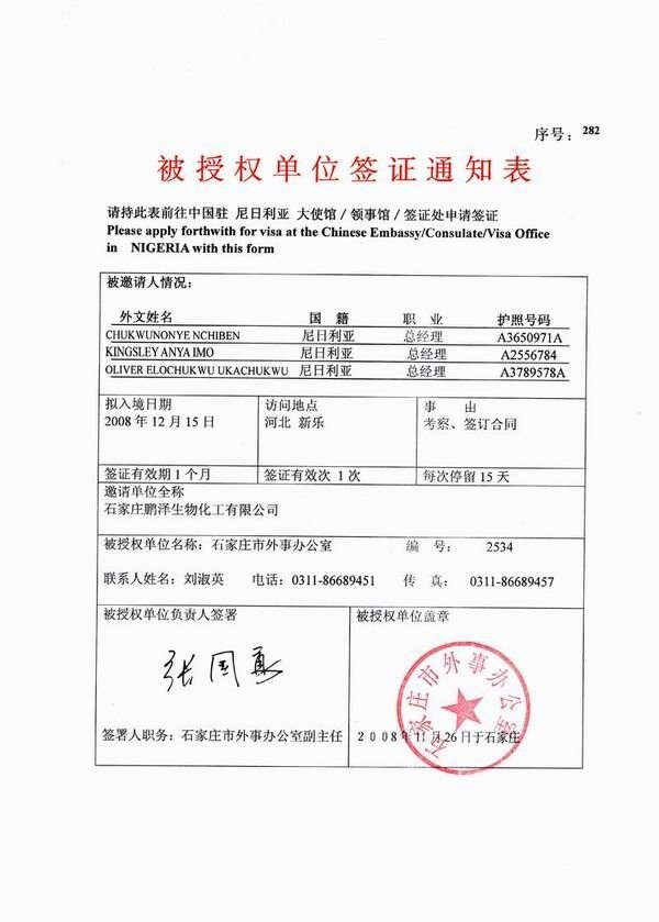 China Invitation Letter Visa Service - Buy Invitation Letter Product