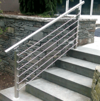 Modern Outdoor Metal Handrail For Steps / Outdoor Metal ...