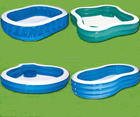 pvc square pools inflatable large swimming pool for sale