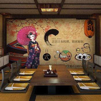 3d Landescape Mural Wallpaper Cheap Waterproof Self Adhesive Decor Japanese Restaurants