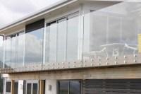 Exterior Frameless Tempered Glass Balcony Railing Glass