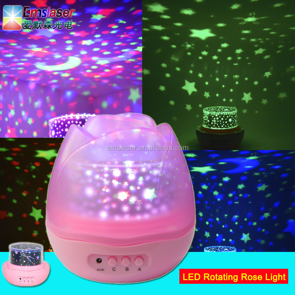 Light Projector Romantic Led Rose Rotating Night Light Projector Room Lighting Sky Star Usb Lamp Buy Led Night Light Mini Usb Led Lamp Night Light Stars