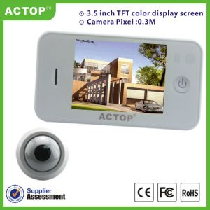 New arrival 3.5 inch TFT monitor cheap digital wide angle lens mini door peephole camera