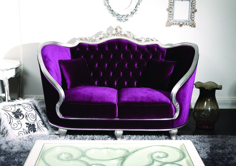 Baroque Sofa Set Royal Palace Throne Purple Carving Sofa Set - Buy Royal Furniture Sofa Set,carving Wood Sofa Set