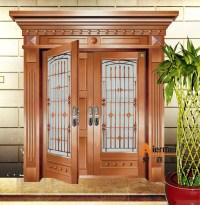 2015 Fashioal Double Door Design Cooper Exterior Glass ...