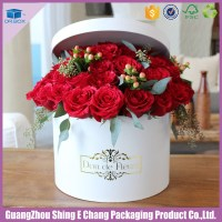 Romantic Round Shaped Wedding Party Hat Box For Flowers