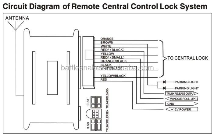 wiring diagram to install remote start remote door lock
