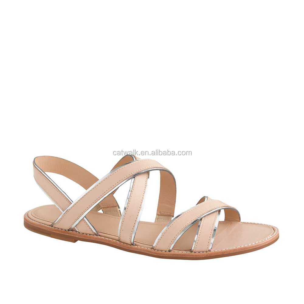 2015 european and american style summer flat strap sandals women casual flat shoes female roman sandal