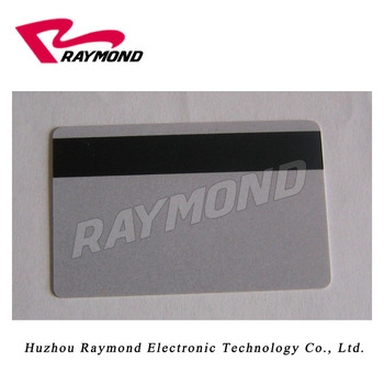 Membership Card,Cr80 Size Blank Pvc Cards Silver With Hico Magnetic