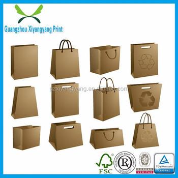 Diy Design Diffrent Types Recycled Brown Kraft Paper Bag For America