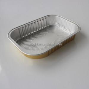 Rectangle strong airline aluminum foil food container