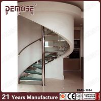 Commercial Spiral Metal Stair With Wood Steps Indoor ...