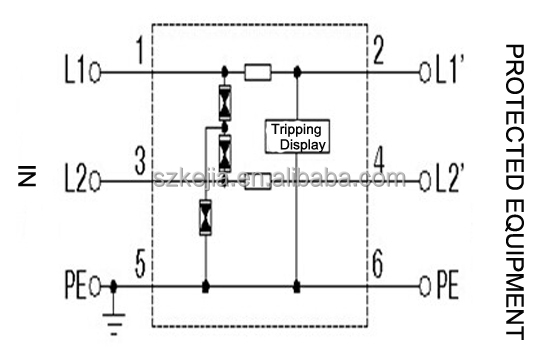 wiring diagram on wiring diagram for a surge protective device