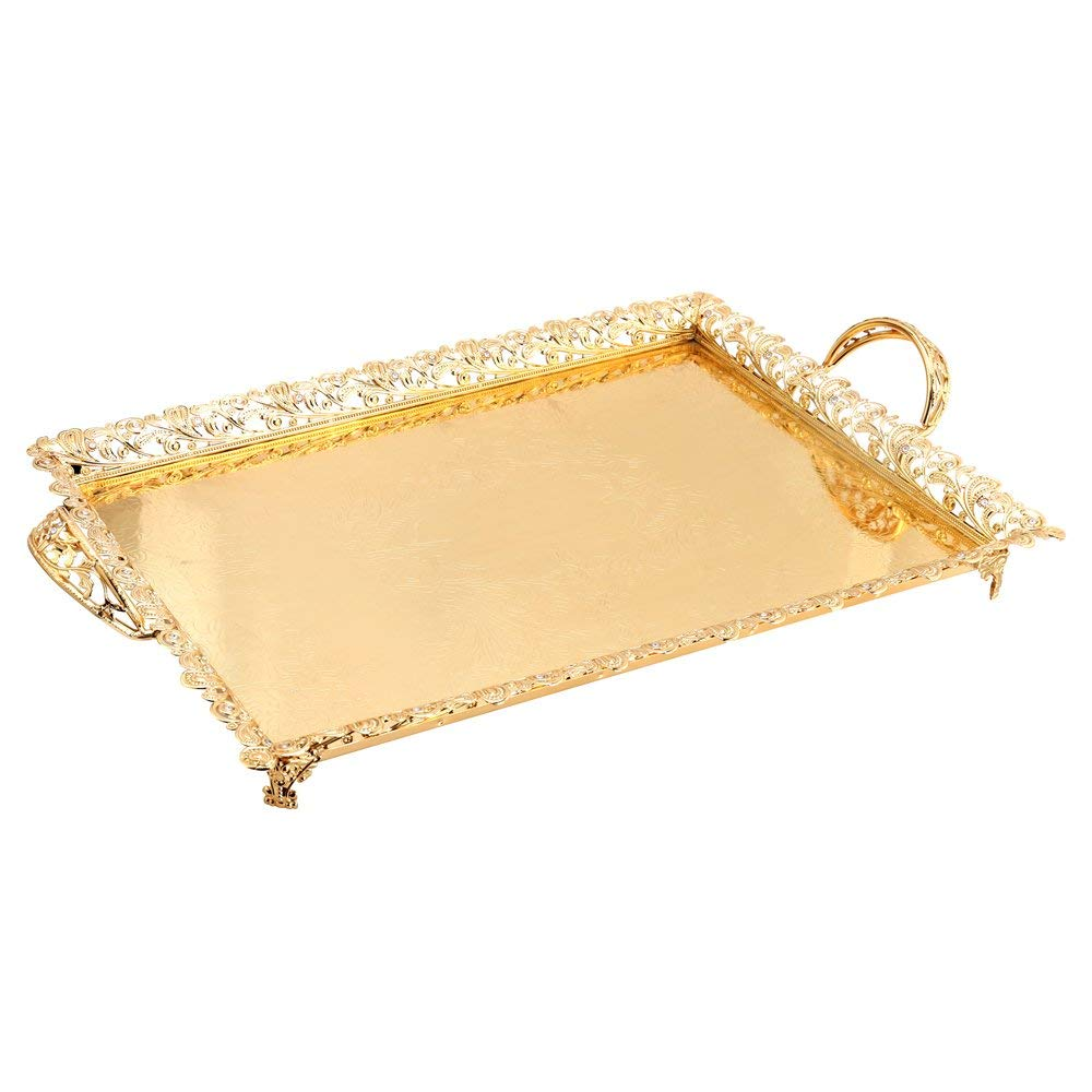 Gold Serving Tray Cheap Gold Metal Tray Find Gold Metal Tray Deals On Line At