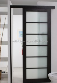 Modern Laminated Glass Hotel Bathroom Sliding Door Design ...