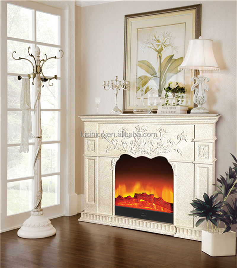 Fausse Cheminée Bois Georgian Style Carved Wood Electric Fireplace,decorative