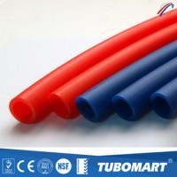 Tubomart red blue pex pipes of pex material water plumbing ...