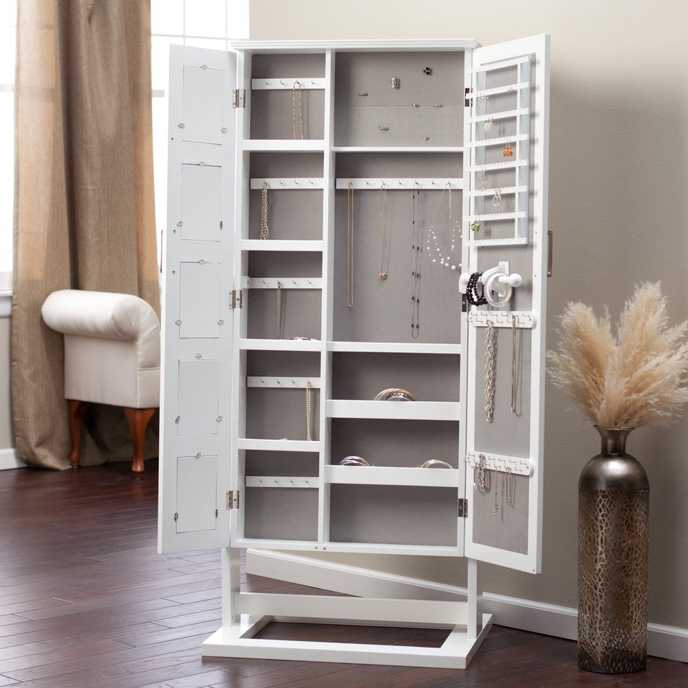 Meuble Tv Style Shabby Floor Standing Cheval Mirror Jewelry Armoire Plans