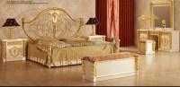 New Item- Bedroom Furniture,Gold & White Luxury Bedroom ...