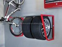Folding Tire Hang Storage Loft Rack Garage Shop Wall Mount ...