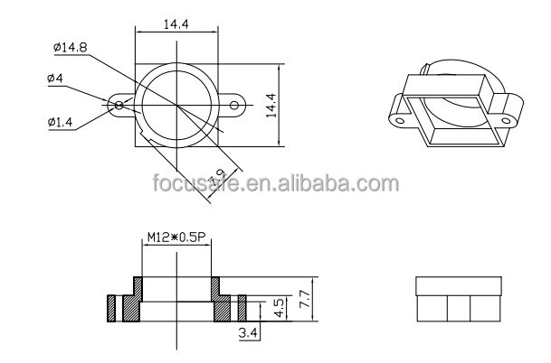 Fs Blh130 Short Board Lens Mount M1205 Buy Board Lens