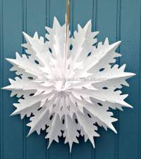 45cm White Christmas Snowflake Tissue Paper Decorations ...