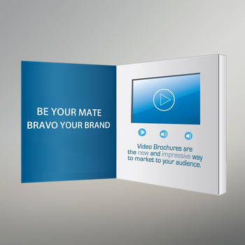Most Thinnest A4 Brochure 43 Inch Tft Lcd Video Greeting Lcd Video