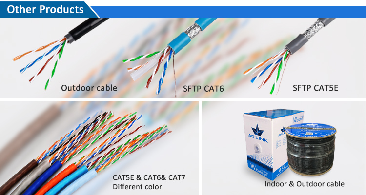 Promotional Eia Tia 568a 568b 4p Lift Cable Cat6 Cat6 Network Cable