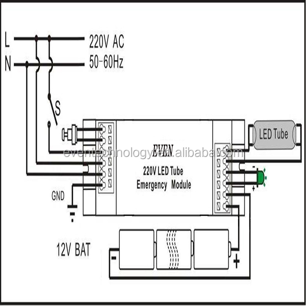 automatic led emergency lamp circuit with overcharge protection