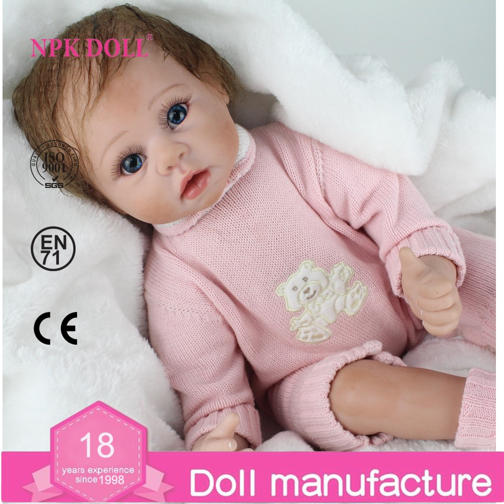 Toddler Fake Babies 22 Inch 50cm Reborn Baby Doll Fake Baby Real Like Newborn Dolls Silicone Doll Reborn For Kids View Fake Baby Dolls Look Real Npkdoll Product Details