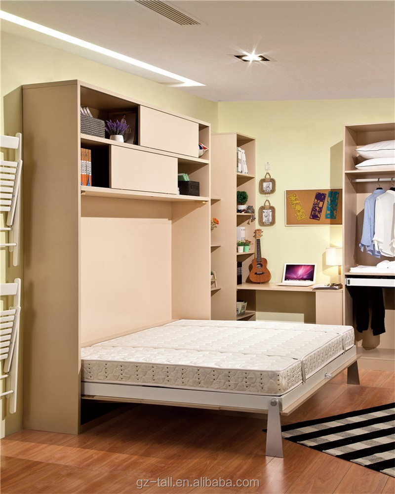 Bed that pulls down from wall -  Wall Bed Kit Furniutre Pull Down Download