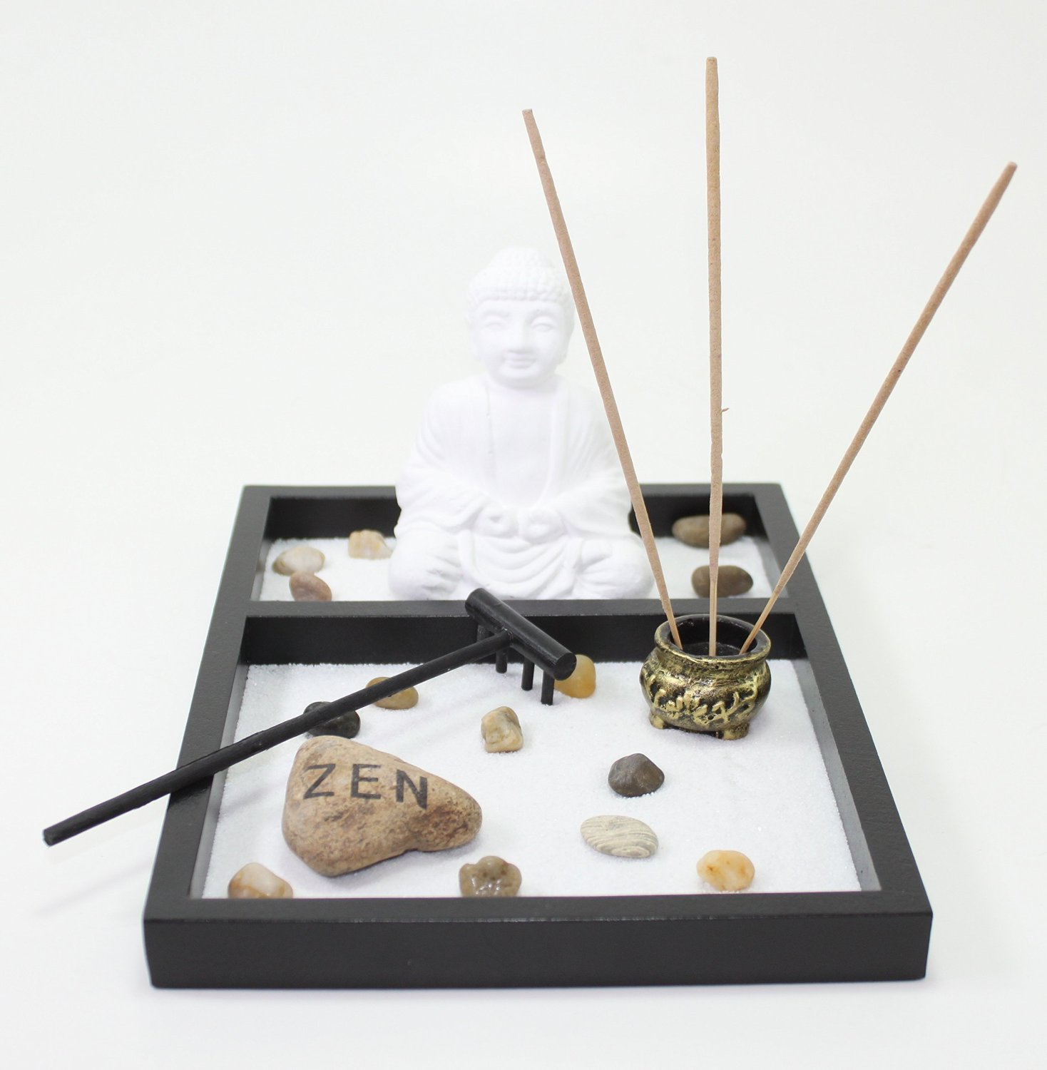 Table Top Zen Garden Buy Tabletop Zen Garden White Sand Buddha Rock Rake Incense Burner