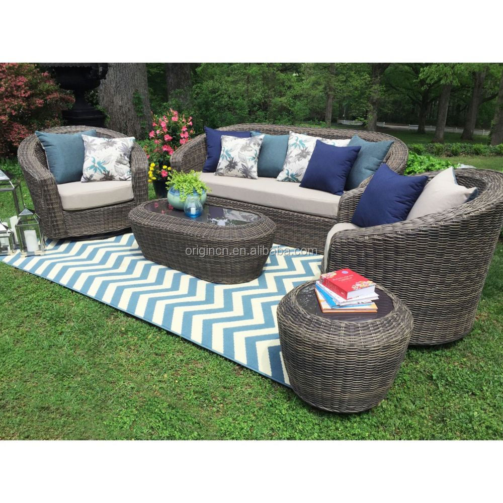 Settee End Table Best Selling 5pc 3 Seater Garden Settee With Wicker End Table Rattan Sofa Set Buy Rattan Sofa Set Settee Sofa Furniture Garden Furniture Product On