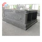 Gray Granite Double Crypts Pre-assembled Mausoleum