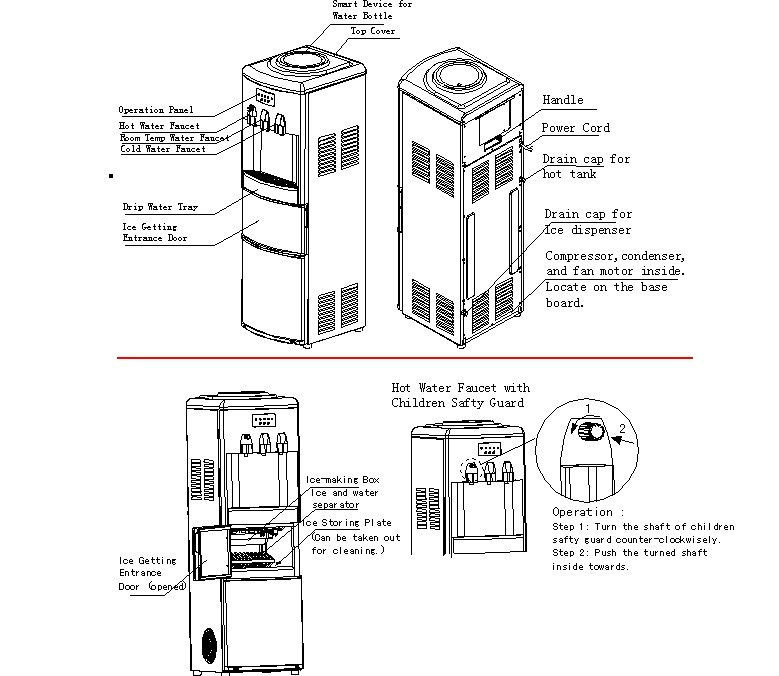 water cooler dispenser diagram