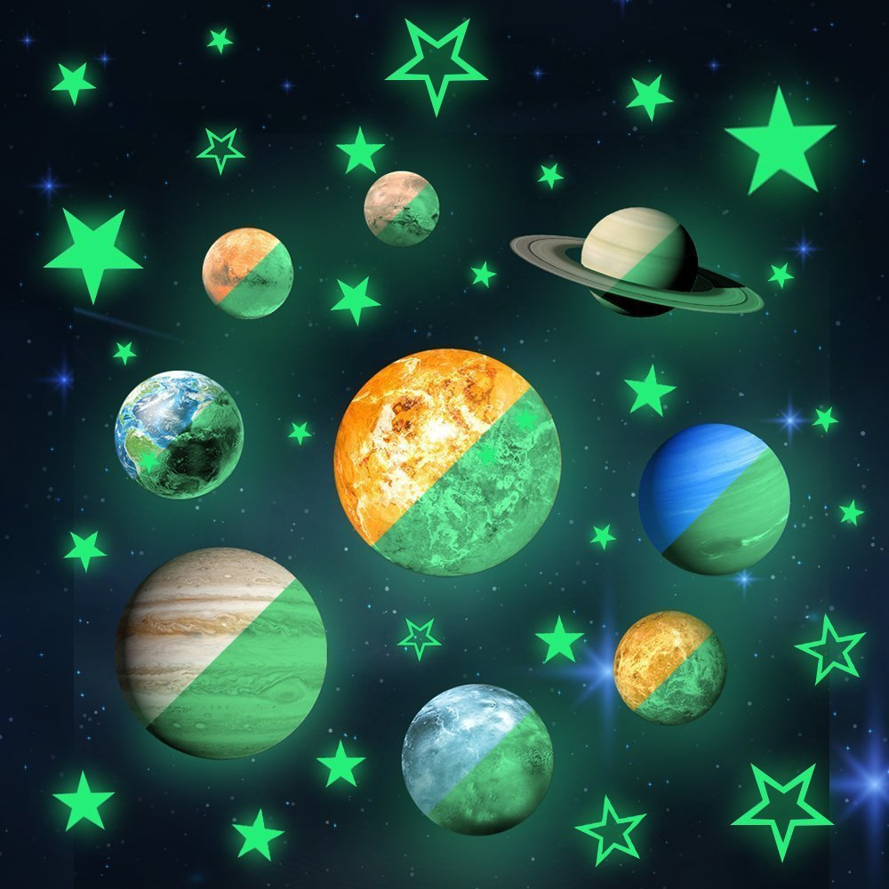 Planets Wall Art Buy Educational Solar System Planets Wall Decals 9 Planets Wall