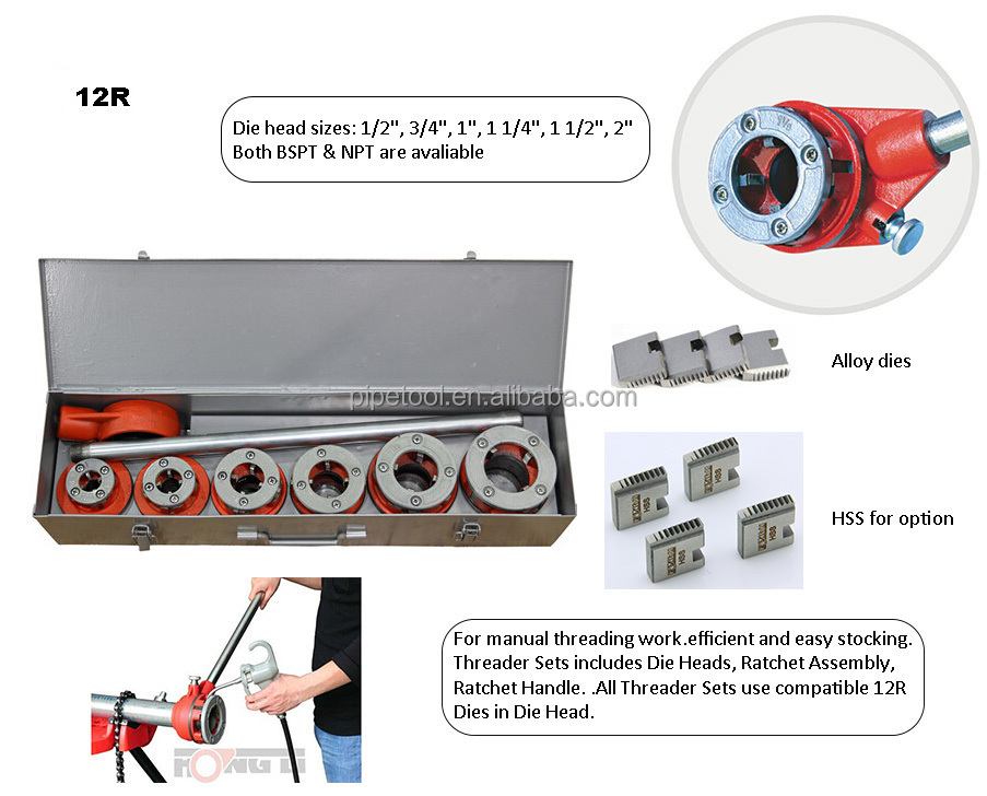 Manual Pipe Threader /pipe Threading Machine /manual