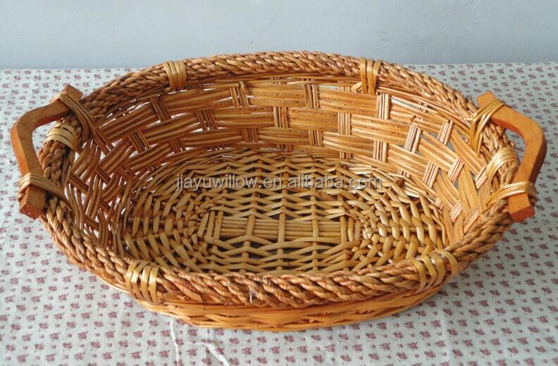 Handmade Wicker Fruit Basket Bread Wicker Display Basket