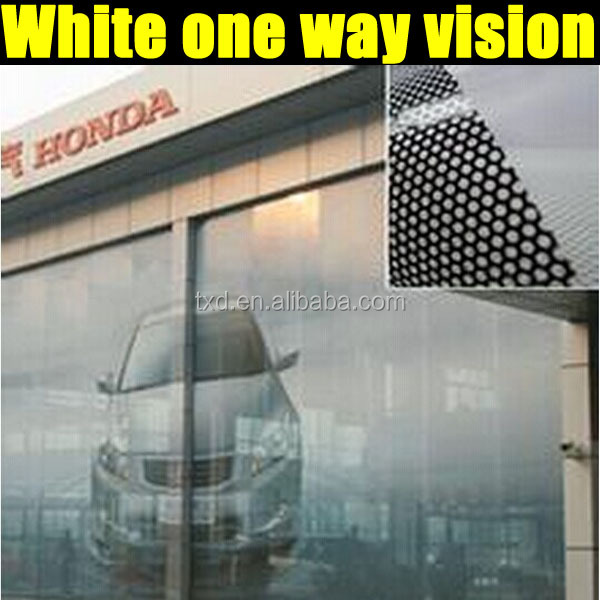 One way vision perforated film glass sticker window glass