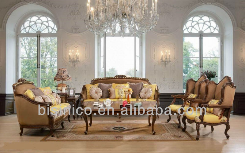 Antique Living Room Furniture,Luxury Spanish Style Sofa Sets - antique living room sets