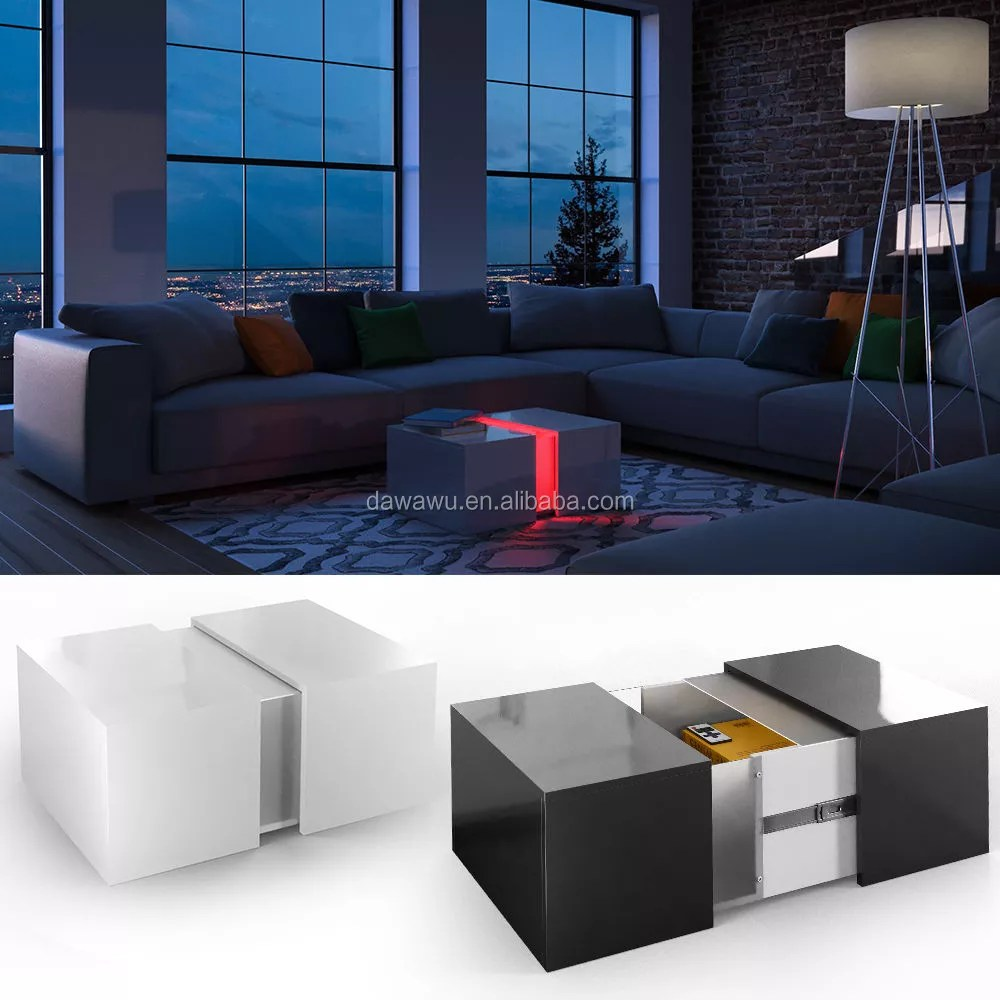 Design Couchtisch Led Couchtisch Led Loungetisch Wohnzimmer Tisch Sofa Couch Hochglanz Coffee Table Buy Coffee Table Product On Alibaba