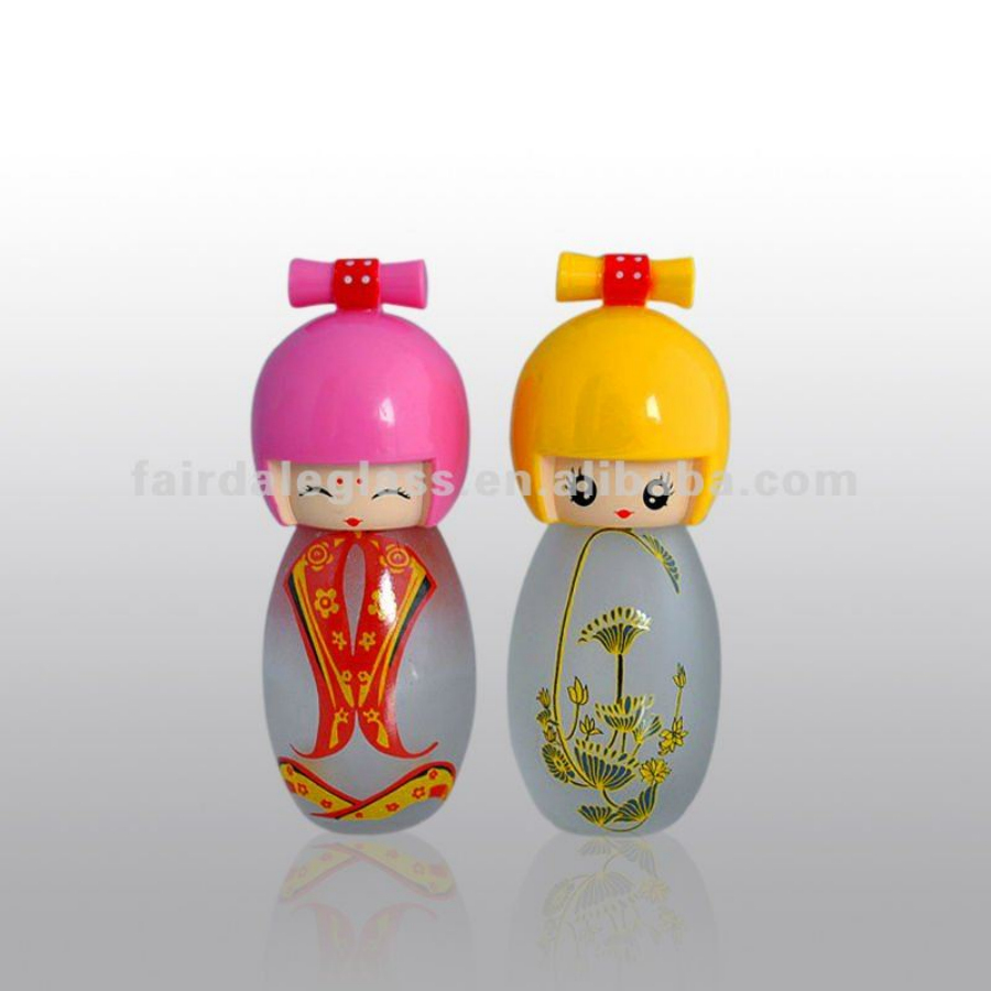 Interesting Bottles 48 F006t 25ml Interesting Doll Perfume Glass Bottle With Sprayer Buy Custom Made Glass Perfume Bottles Doll Cap Perfume Glass Bottle Japanese Doll