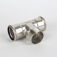 Stainless Steel Pipe Press Tee Fittings Exporter - Buy ...