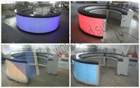Front Desk Counter/ Solid Surface Half Round Office Desk ...