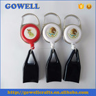Customized color printing carabiner badge reel with lighter leash