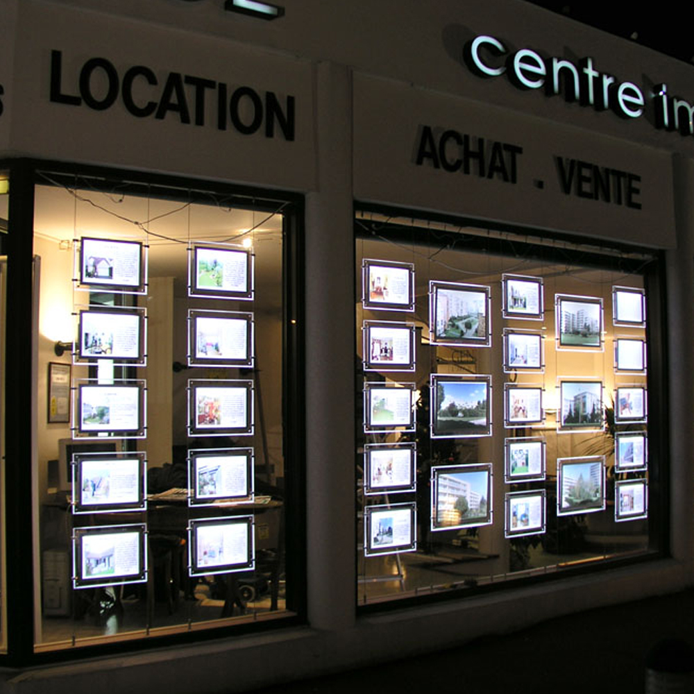 Achat Led Estate Agents Led Window Display Boards Units For Advertising Buy Estate Agents Window Display Boards Real Estate Window Display Units Estate Agent