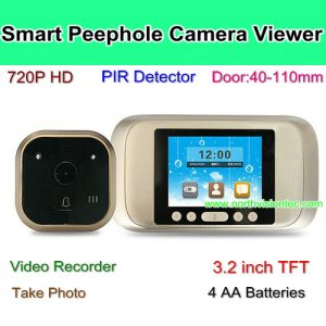 HD Smart Door Peephole Camera With PIR Sensor