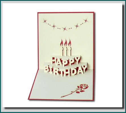 Birthday Cake - In 3d Pop-up Greeting Card - Buy Pop Up Greeting - birthday cake card template